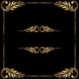 Vector set of vintage decorative elements. Royalty Free Stock Photo