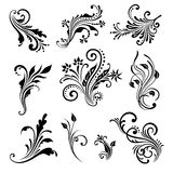 Vector set of vintage decorative elements. Vector set of vintage decorative elements for design, print, embroidery Royalty Free Stock Photography