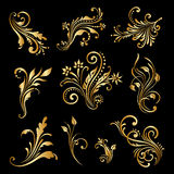 Vector set of vintage decorative elements. Royalty Free Stock Photos