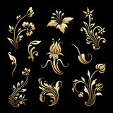 Vector set of vintage decorative elements. Stock Photos