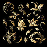 Vector set of vintage decorative elements. Stock Photo