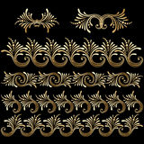 Vector set of vintage decorative elements. Stock Photography