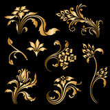 Vector set of vintage decorative elements. Royalty Free Stock Photography