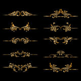 Vector set of vintage decorative elements. Stock Images