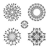 Vector set of vintage decorative elements. Stock Image