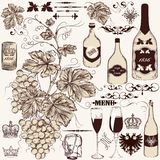 Vector set of vintage decorative elements Royalty Free Stock Image
