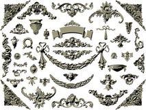 Vector set of vintage design elements Stock Images