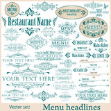 Vector set of vintage design elements Stock Images