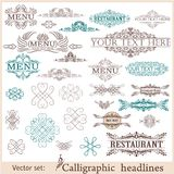 Vector set of vintage design elements Royalty Free Stock Photos