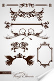 Vector set of vintage elements. For your design Stock Image