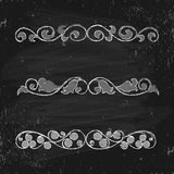 Vector set of  vintage elements Royalty Free Stock Photos