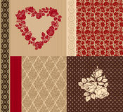 Vector set of vintage elements for design. Royalty Free Stock Photo