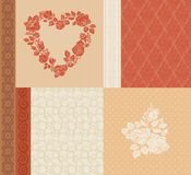 Vector set of vintage elements Stock Photography