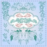 Vector set of vintage elements. This is file of EPS8 format Royalty Free Stock Image