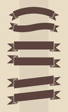Vector set of vintage engraved banners Royalty Free Stock Images