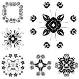 Vector set of vintage floral pattern elements Royalty Free Stock Photos