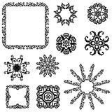 Vector set of vintage floral pattern elements Stock Image