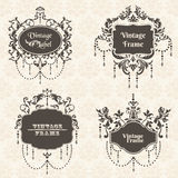 Vector Set: Vintage Frame collection Royalty Free Stock Image