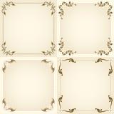 Vector set of vintage frame. Stock Images