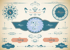Vector set of vintage framed labels 0009 Royalty Free Stock Images