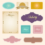 Vector set of vintage framed labels 0018 Stock Images