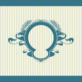 Vector set of vintage framed labels 0016 Royalty Free Stock Photo
