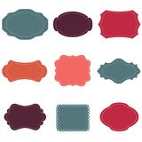 Vector set of vintage frames. Template Royalty Free Stock Photography