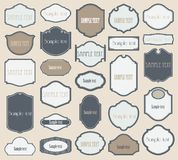 Vector set of vintage frames Royalty Free Stock Photography