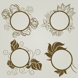 Vector set of vintage frames Stock Images