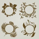 Vector set of vintage frames Royalty Free Stock Photo