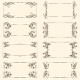 Vector set of vintage frames. Stock Photography
