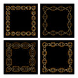Vector set of vintage frames. Royalty Free Stock Images