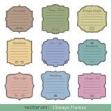 Vector set of vintage frames. On white background Royalty Free Stock Photography