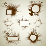 Vector set of vintage grunge frames Royalty Free Stock Image