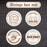 Vector set of vintage hand drawn beer mat with Stock Image