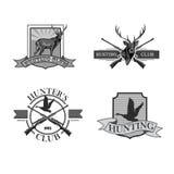 Vector set of vintage hunting emblems Stock Images