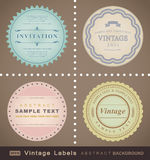 Vector set: vintage labels Stock Images