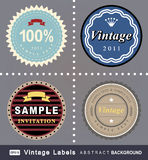 Vector set: vintage labels Royalty Free Stock Photography