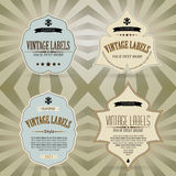 Vector set: vintage labels Stock Photo