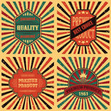 Vector set of vintage labels Stock Photo