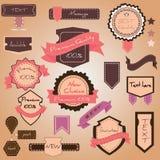Vector set vintage labels royalty free illustration