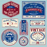 Vector set of vintage labels for clothes royalty free illustration