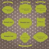 Vector set vintage labels Stock Photography