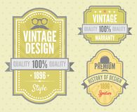 Vector set vintage labels Stock Image