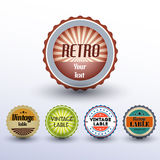 Vector set of vintage labels. Stock Images