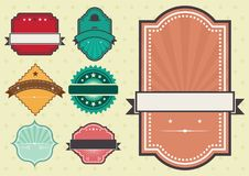 Vector set of vintage labels Royalty Free Stock Photos