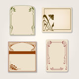 Vector set of vintage labels. Royalty Free Stock Image