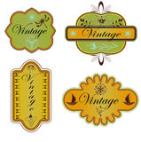 Vector set vintage labels Stock Photos