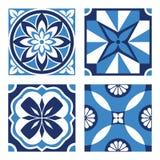 Set of Vintage Ornamental Patterns. Vector Set of Vintage Ornamental Pattern Tiles Royalty Free Stock Images