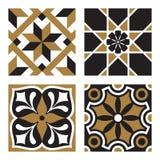 Set of Vintage Ornamental Patterns. Vector Set of Vintage Ornamental Pattern Tiles Stock Photos